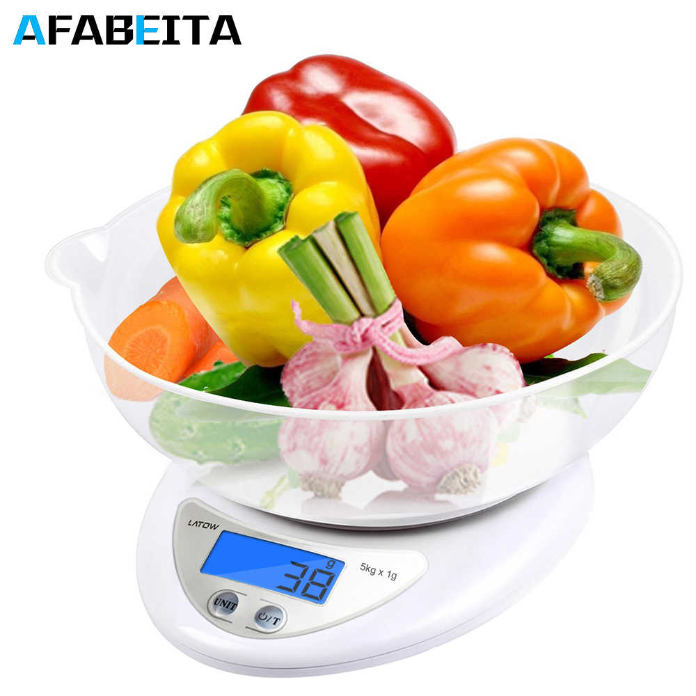 5kg/1g LCD Portable Digital Scale For Kitchen Food Precise Portable Cooking Scale Baking Scale Balance Measuring Weight Libra