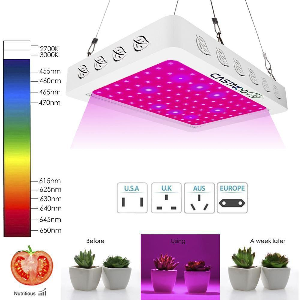 Growing Lamps LED Grow Light 500W 96 LED Full Spectrum Plant Lighting Fitolampy For Plants Flowers Seedling Cultivation
