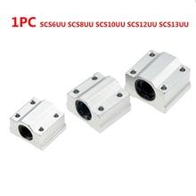 1 шт. SCS6UU SCS8UU SCS10UU SCS12UU SCS13UU Линейный шарикоподшипник блок 6 мм 8 мм 10 мм 12 мм 13 мм для ЧПУ вал стержень части
