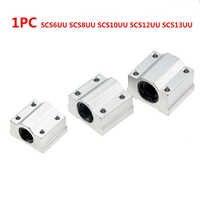 1PC SCS6UU SCS8UU SCS10UU SCS12UU SCS13UU Linear Kugellager Block 6mm 8mm 10mm 12mm 13mm für CNC Welle Stange Teile