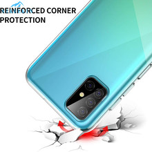Dành Cho Samsung M31 M21 M30S Note10 Lite S9 S8 S20 Plus Chống Sốc Dẻo Silicone Dành Cho Galaxy A31 A41 s7 S6 Edge Note 8 9 Clear Cover(China)