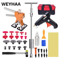 PDR Tools To Remove Dents Auto Tool Set Car Body Repair Kit Dent Puller Kit Reverse Hammer Lifter Removal Glue Gun Suckers