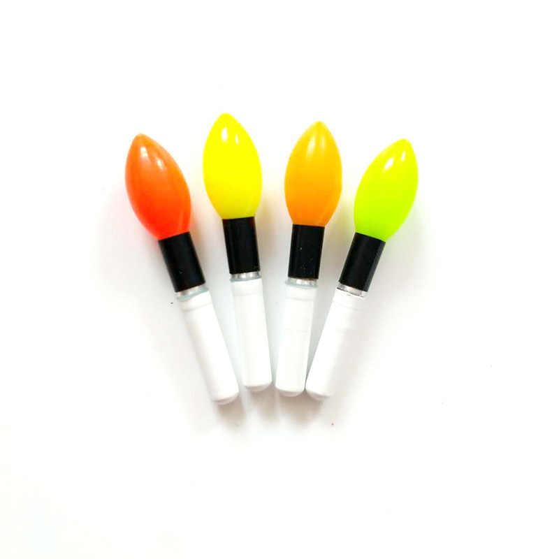 2 sztuk/partia pomadka rozjaśniająca żółty/czerwony/pomarańczowy Lightstick praca z CR322 LED Luminous Float spławik do połowu nocą Bobber akcesoria B388