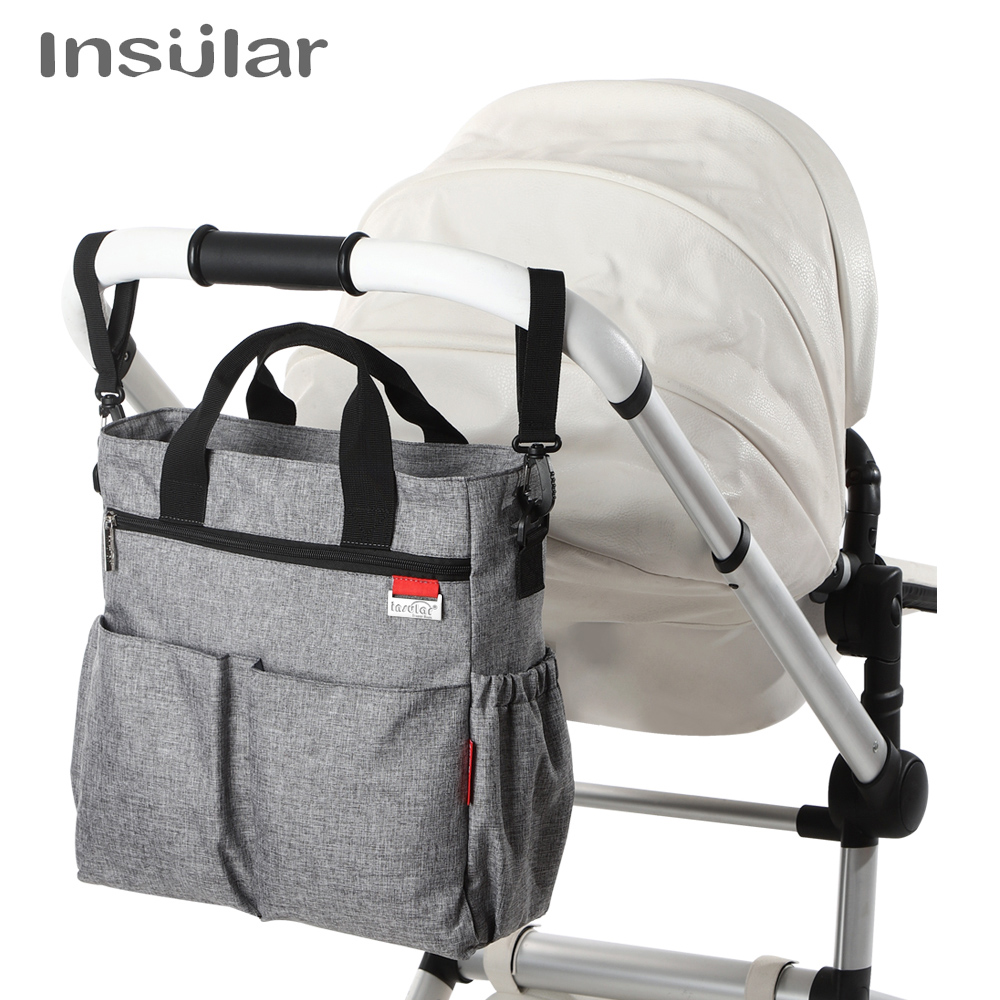 Insular Mummy Diaper Bag For Stroller Large Travel Shoulder Nursing Bag Baby Care Nappy Women Handbag Designer Bolsa Maternidade
