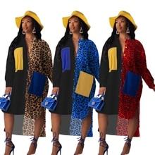 فساتين الأفريقية للنساء طويلة الأكمام الملابس الأفريقية أفريقيا فستان طباعة Dashiki السيدات الملابس أنقرة حجم كبير فستان أفريقيا