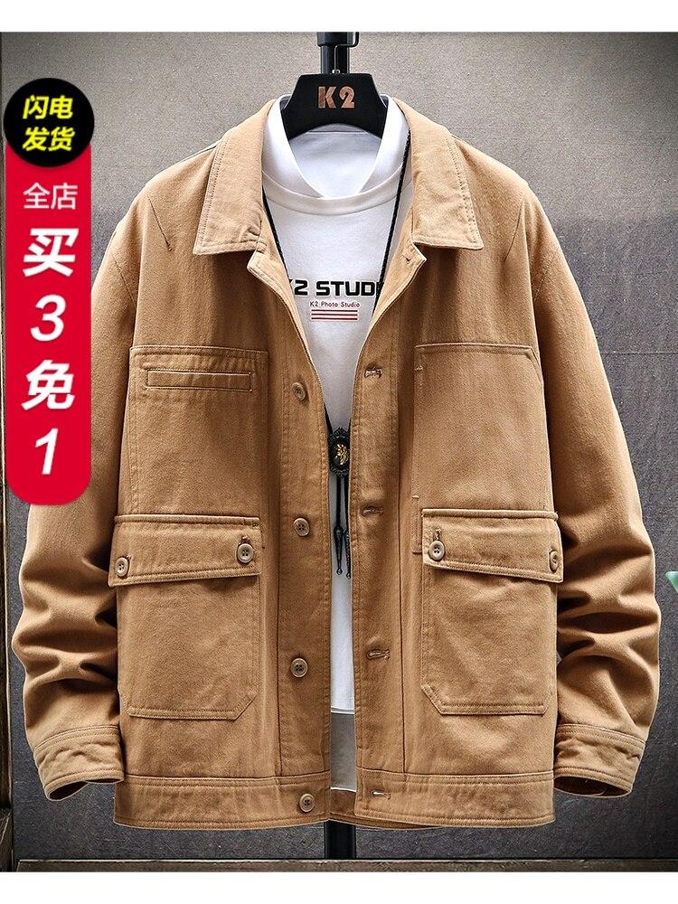 New Age Season 2020 Han Edition Men Coat Tide Male Spring Tide Cowboy Tooling Coat