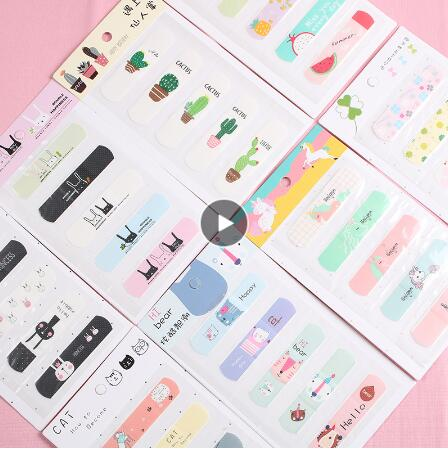 Korean Creative Cute Cartoon Band-Aid New Girl Heart Waterproof Breathable Band-Aid Anti-wear Foot OK Band-Aid