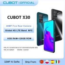 "Cubot X30 Mobiel Global Versie 48MP Vijf Camera 32MP Selfie 6Gb 128Gb Nfc 6.4 ""Fullview Display android10 Celular Smartphone"