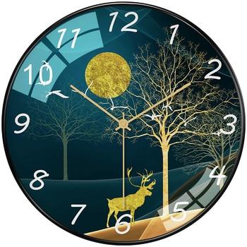 Luxury Creative Nordic Wall Clock Bedroom Analog Modern Design Wall Clocks Decorative Kids Living Room Wall Watch 2020 II50BGZ
