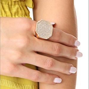 Image 3 - Godki 2019 na moda geometria quadrada zircão cúbico pilhas anéis para as mulheres anéis de dedo grânulos charme anel boêmio praia jóias 2019