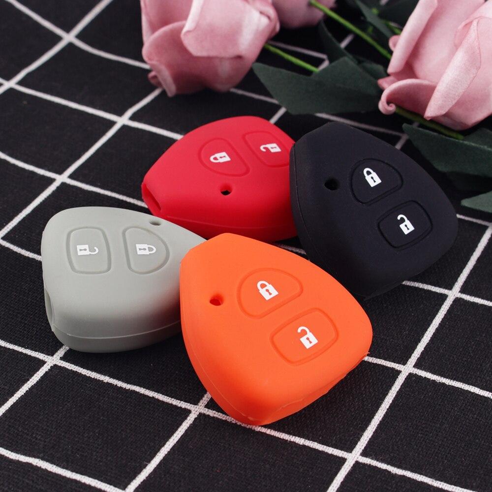 Dandkey силиконовый чехол держатель для Toyota Yaris Auris удаленный ключевой чехол 2 кнопки