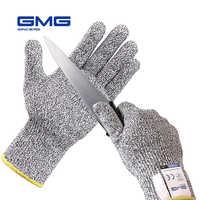 Gants Anti-coupure offre spéciale GMG gris noir HPPE EN388 ANSI gants de travail de sécurité Anti-coupure niveau 5 gants résistants aux coupures