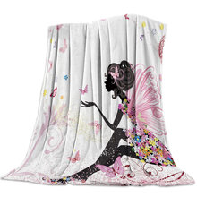 African Women Girl Bedspread Bed Cover Blanket Travel Throws Throw Wrap Wrinkle-Resistant Improve Sleep Personalized Microfiber(China)