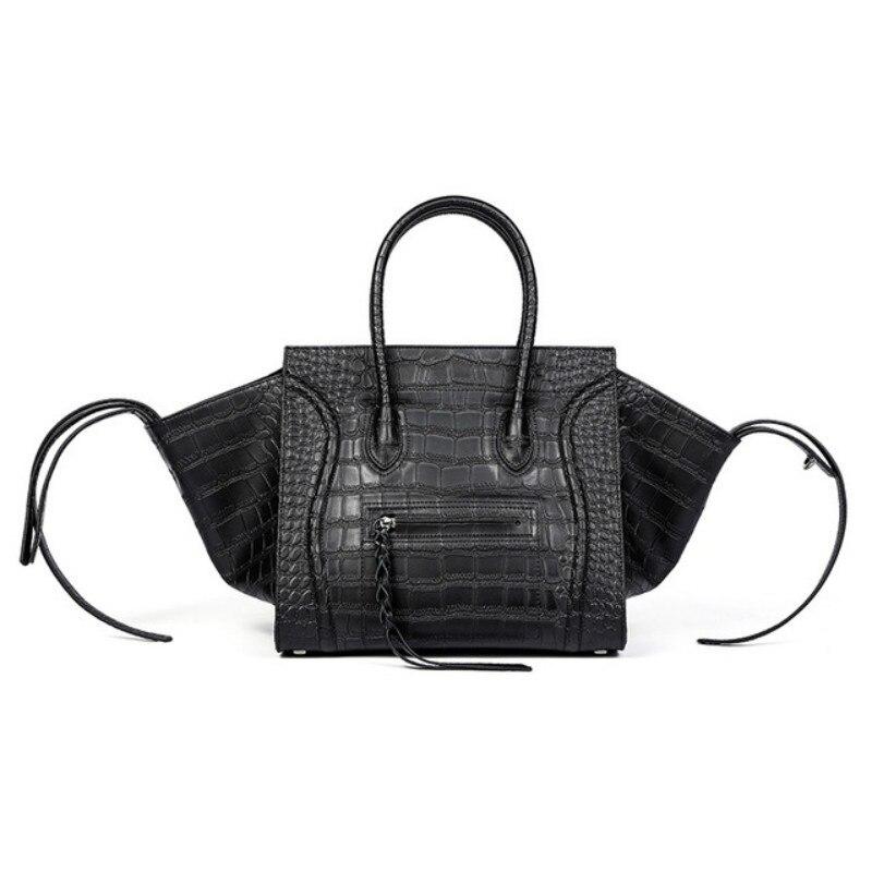 Nouveau Célèbre Designer Marque Luxe Femmes Cuir Sacs A Main Mode Sourire Visage Fourre-tout Qualité Trapèze Sourire Pochettes Sac Féminin