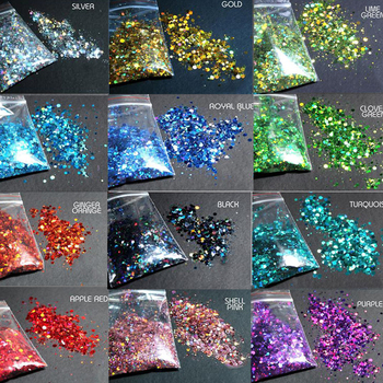 Chunky Colors Bulk Glitter 50grams 24 POLYESTER HOLOGRAPHIC Holographic Mix -HJ4541077