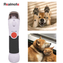 Realmote Pet Dog Nail Clippers Grinder LED Electric mute Nail Scissors Paw Cleaner For Cats And Dogs And Other Small Animals