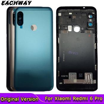 For Xiaomi Redmi 6 Pro Battery Cover Redmi 6pro Back Battery Cover Door Housing Case For Xiaomi Mi A2 Lite Back Housing new for xiaomi redmi k20 back cover metal case xiaomi redmi k20 pro back battery cover housing replacement parts redmi mi 9t pro