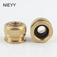 цена на 1/2'' 3/4'' Brass Thread Quick Connector Faucet Joint Hose Water Pipe Washing Machine Joint Garden Irrigation Water Gun Fittings