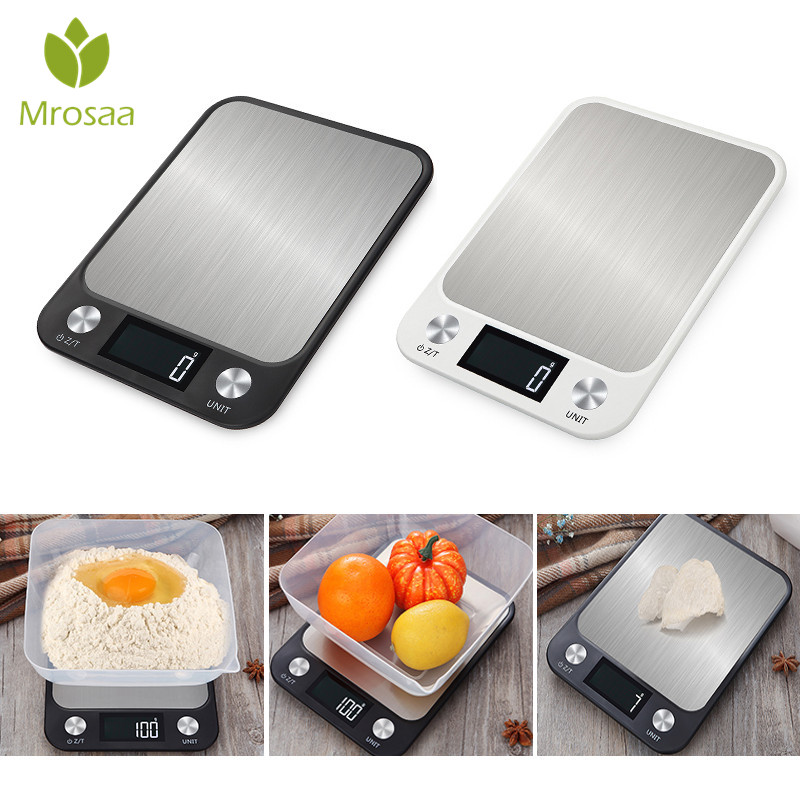 10kg/5kg Household Kitchen Scale Electronic Food Scales Diet Scales Measuring Tool Slim LCD Digital Electronic Weighing Scale