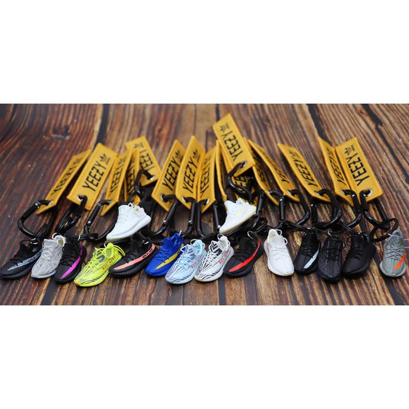 El yapımı Boost 350 V2 3D Mini Sneakers anahtarlık küçük ayakkabı modeli AJ anahtarlık yüksek kaliteli moda takı