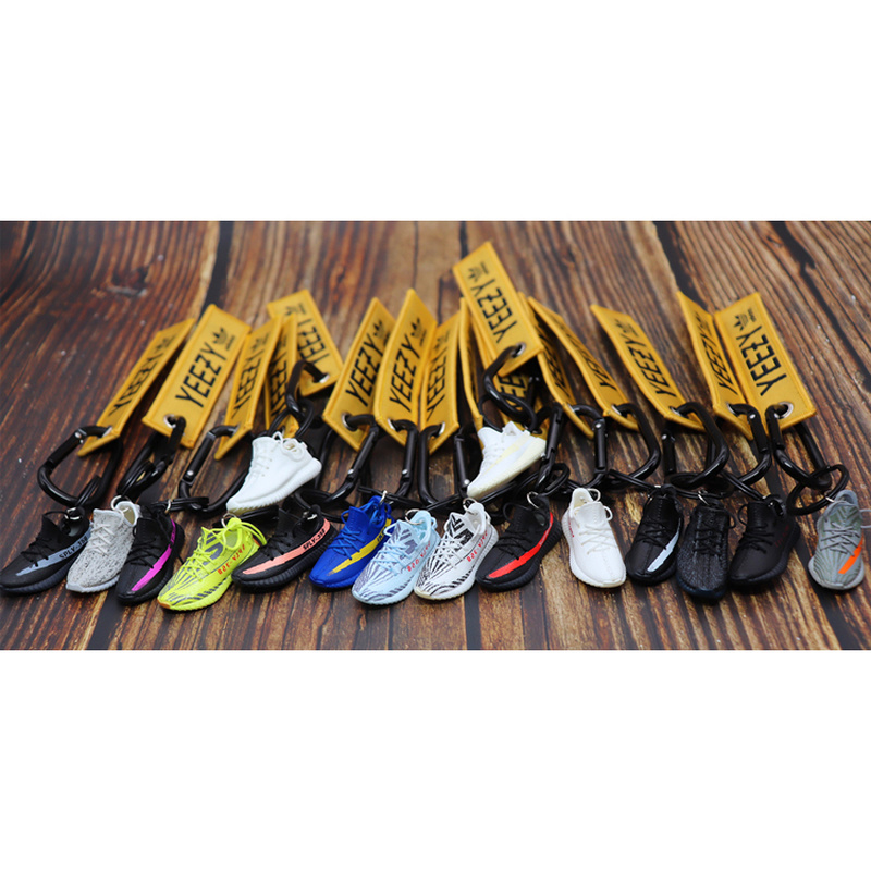 Handgemachte Boost 350 V2 3D Mini Turnschuhe Keychain Kleine Schuhe Modell AJ Schlüssel Ring Hohe Qualität Mode Schmuck