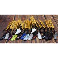 Handmade Boost 350 V2 3D Mini Sneakers Keychain Small Shoes Model AJ Key Ring High Quality Fashion Jewelry