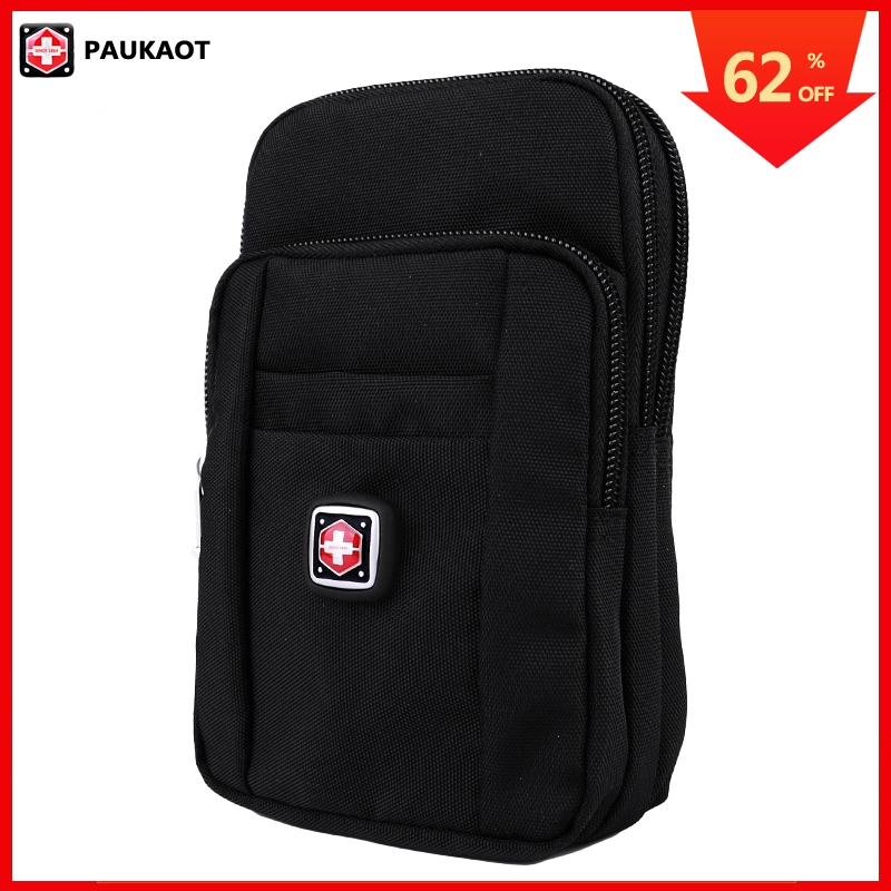 PAUKAOT Travel Fanny Pack Vertical Belt Bag Waterproof Smartphone Bum Hip Waist Packs For Men Small Bags Zipper Pouch