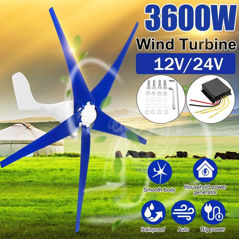 3600W vent pour Turbine générateur 3/5 12/24V vent lames OptionWind contrôleur cadeau adapté pour la maison + montage accessoires sac