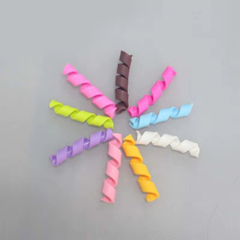 Colorful Soft Terracotta Strips Spring Rolled Light Clay Accessories For Children/kids DIY Handmade Materials 9PCS/bag