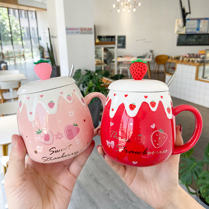Kawaii Strawberry Ceramic Cup - Special Edition