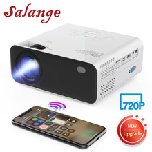 Salange E450S Mini projektor Led telefon 720P przenośny film Proyector, bezprzewodowe lustro do kina domowego iPhone kompatybilny z HDMI USB