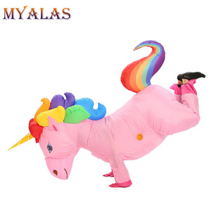 Image 4 - Unicorn Inflatable Costumes For Adult Women Men Pegasus Halloween Horse Pony Carnival Teen Cosplay Party Full Body Outfit Suit