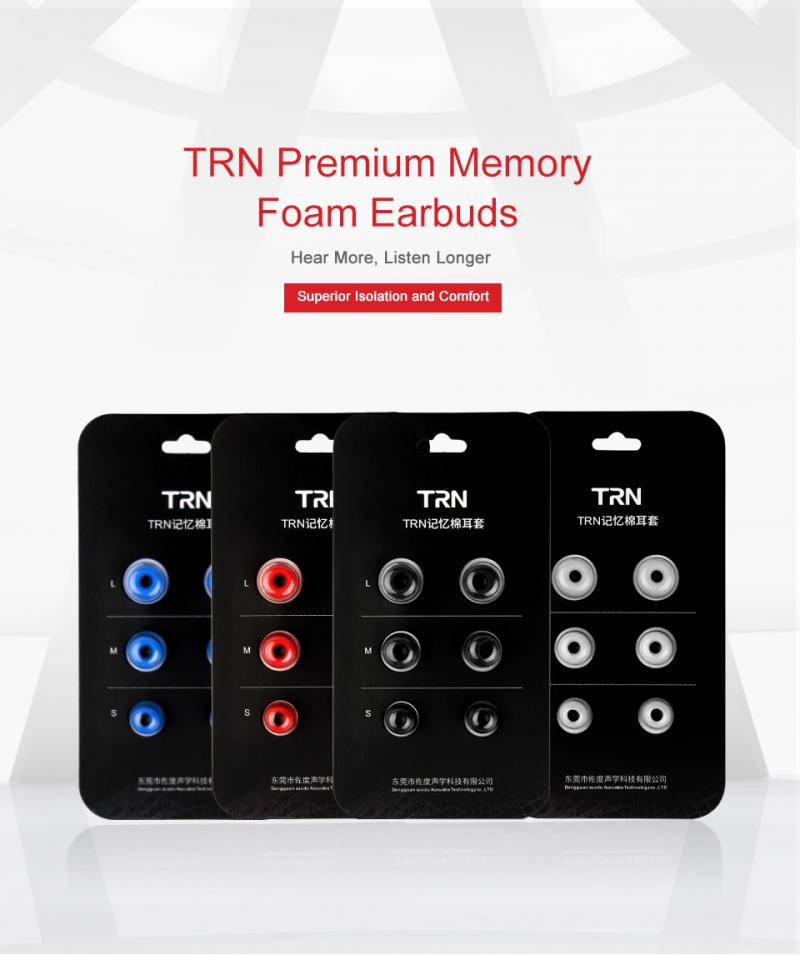 Soft Earphones Earbud Silicone Memory Sponge Cover Tips Replacement Reinforced Bass Set Slow Rebound Ear Plugs For TRN