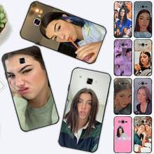 FHNBLJ Charli Damelio Telefon Fall für Samsung J4 plus J2prime J5 J6 plus 2016 J7 8 core 2017