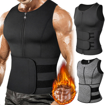 Men Body Shaper Waist Trainer Vest Slimming Shirt Sauna 1