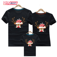 Family Matching Outfits T-Shirt Christmas Mom Baby Deer Suit Dad