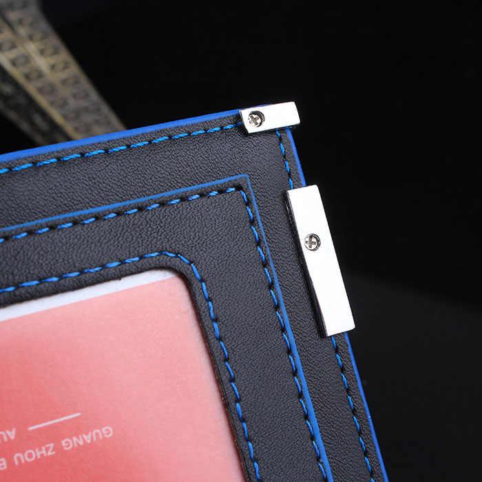 กระเป๋าสตางค์ผู้ชายสไตล์ธุรกิจ Bifold ธุรกิจกระเป๋าสตางค์ Holdermens กระเป๋าสตางค์ Slim PU กระเป๋าหนัง D45