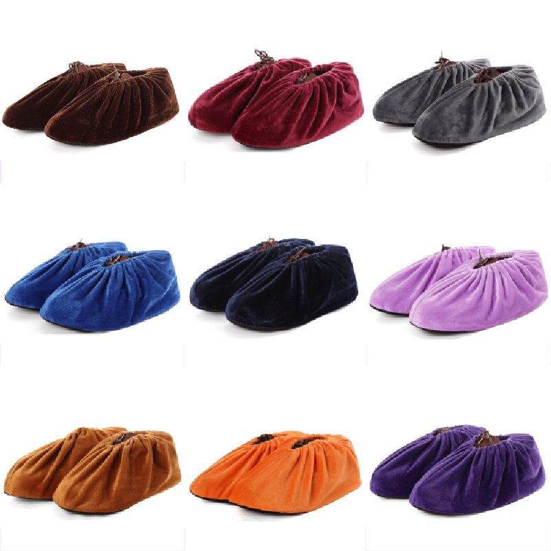 Household Thick Indoor Foot Cover 2019 Flannel Shoes Covers Men Women Non-slip Reusable Shoe Cover Dust  Keep Floor Cleaning New