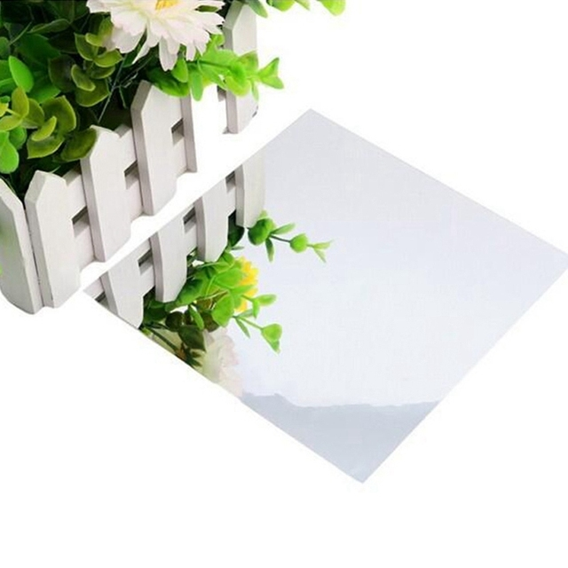 1 Set Of 15*15cm*6 Pcs Square Mirror Wall Stickers Decorative Combination Removable Mirror Stickers For  Home Decoration 1