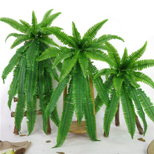 73cm Simulation fern grass green plant artificial persian leaves flower wall hanging plants home wedding shop decoration
