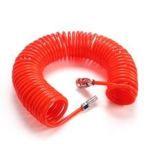 цена на 3M/6M/9M/12M/15M Pneumatic PU OD 8mm * ID 5mm Air Compressor Telescopic Spiral Hose Spring Tube Dropship Flexible Air Tool Pipe