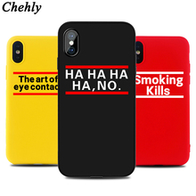 цена на Soft Silicone Fitted Phone Case for IPhone 6s 7 8 11 Plus Pro X XS MAX XR SE Fashion HA HA HA Cases TPU Back Accessories Covers