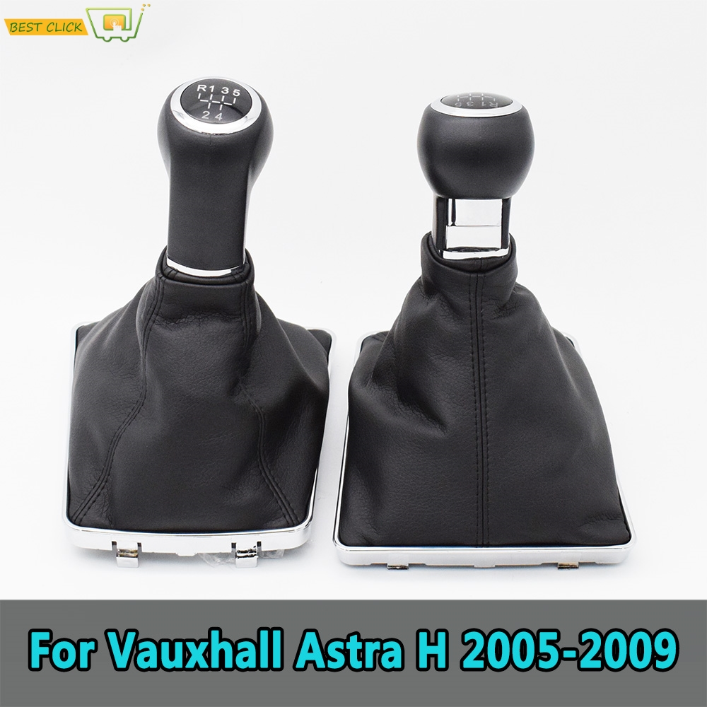 For Opel/Vauxhall Astra H 5/6 Speed Car Gear Shift Knob Lever Pen Stick Gaitor Boot Cover 2005 2006 2007 2008 2009
