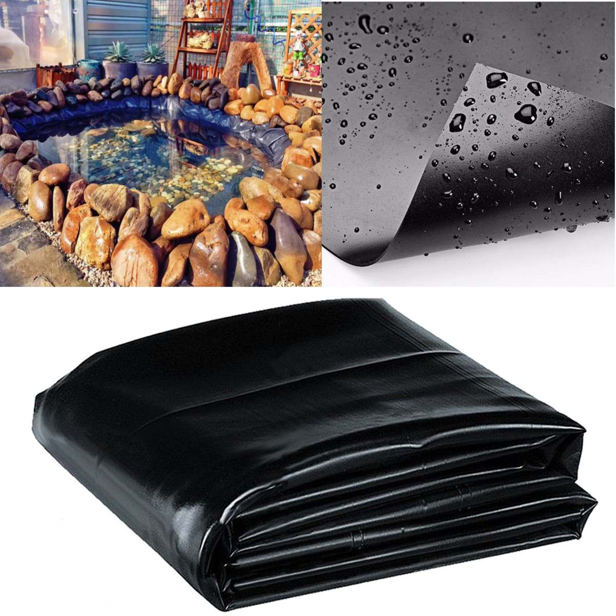 Black HDPE Fish Pond Liner Garden Pools Reinforced HDPE Heavy Landscaping Pool Pond Waterproof Liner Cloth