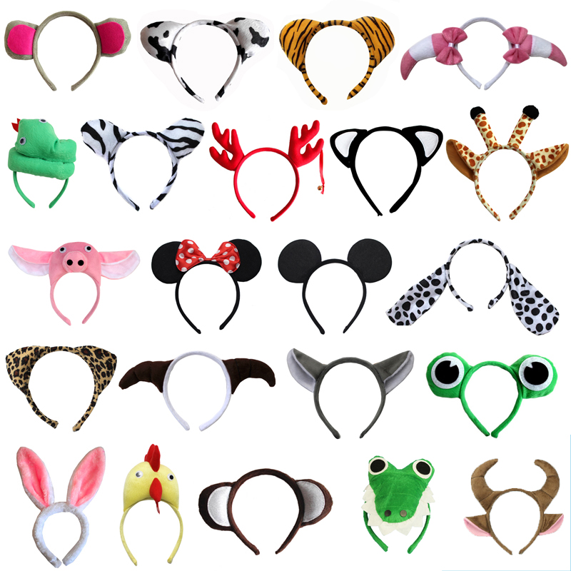 Cute Cartoon Animals Headband Angel Bee Lion Hairband Cosplay Headwear Hair  Kids Birthday Party Gift  Christmas Halloween