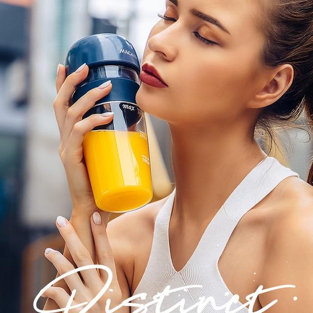 2019 New MACAIIROOS Portable Juicer Cup Mini Electric Juice Maker 300ml Juice Milkshake Smoothie Blender Mixer 1