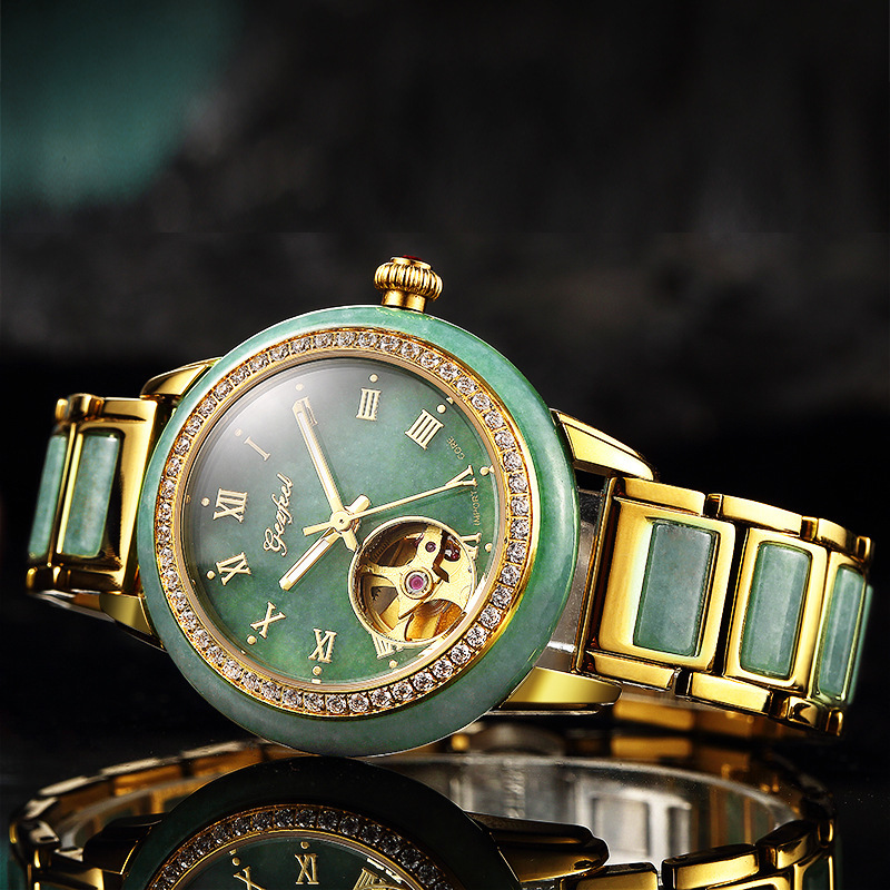 2019 New Trill Hot Style Watches Lovers Jadeite Jade Automatic Mechanical Watch A Undertakes To