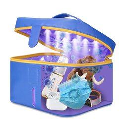 UV Sterilisator Tasche Tragbare UVC Sanitizer Box mit USB Aufladbare LED UV licht Desinfektion Reinigung Werkzeug für Handy/Baby