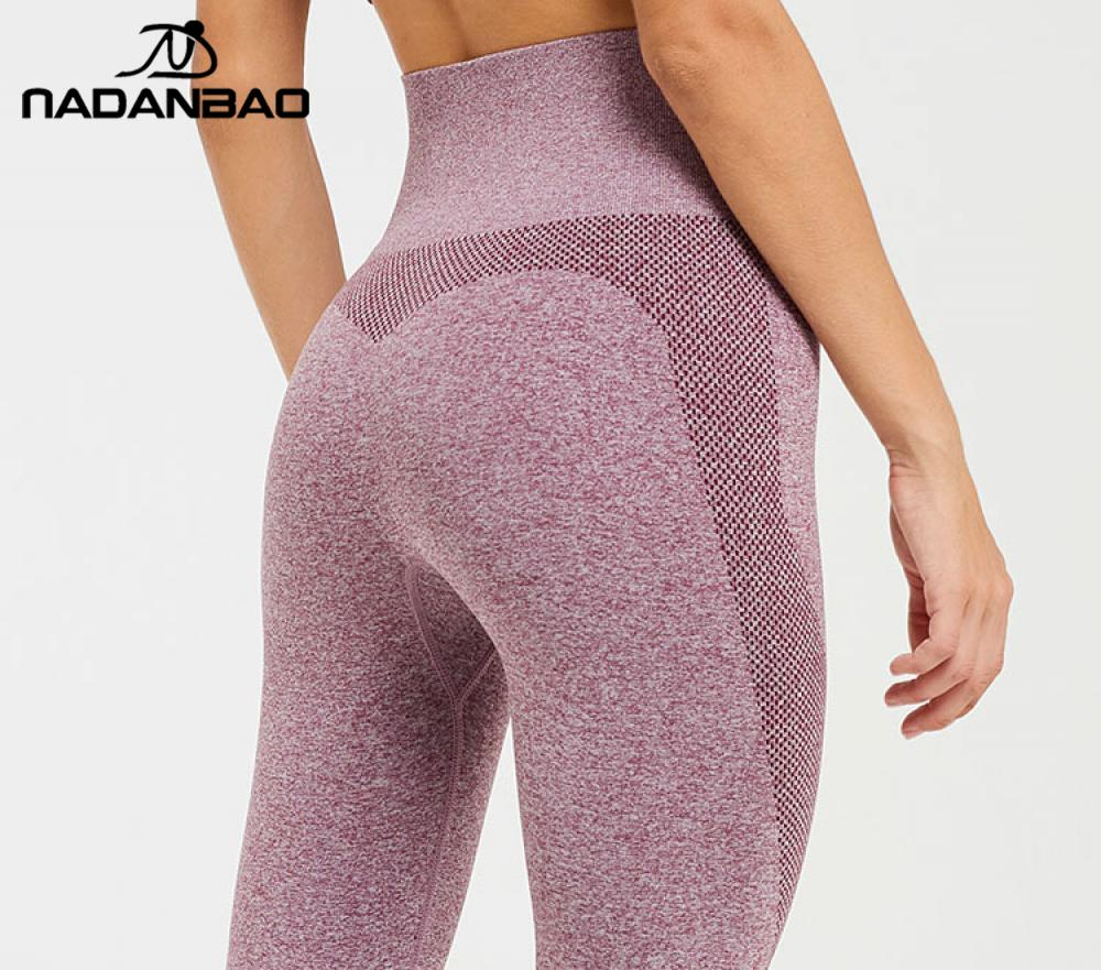 NADANBAO Sporting Leggings For Women GYM Push Up Running  Pants High Waist Seamless Leggins Pants Slim Sexy Mesh Sportwear