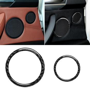 Fashion Modification 6Pcs Car Carbon Fiber Horn Frame Stickers Car Decoration for BMW X5 E70 2008-2013 for BMW X6 E71 2009-2014 image